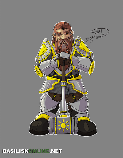 2017. Licensable. Dwarf Cleric.