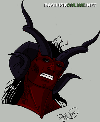 2020. Commission. Tiefling Headshot.