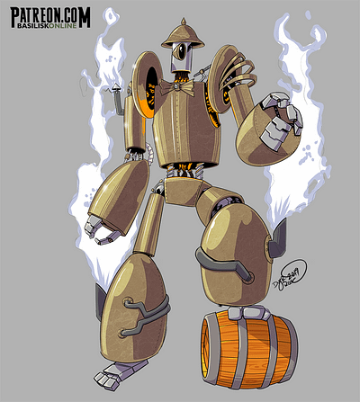2019. Free to Use. Steampunk Robot.