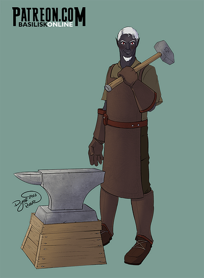 2018. Commission. Drow Blacksmith.
