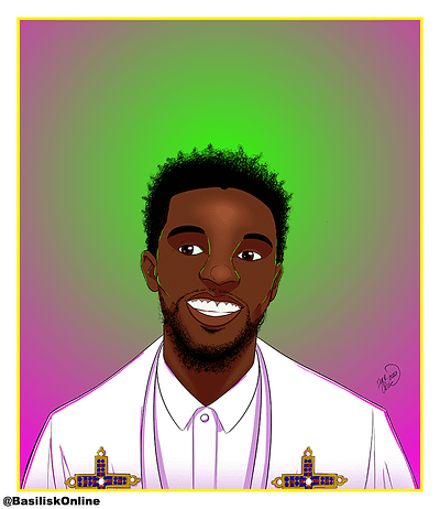 2020. Commission. Chadwick Boseman tribute.