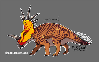 2021. Licensable. Styracosaurus.