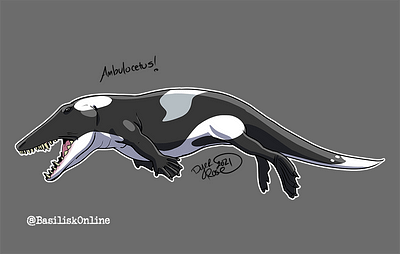 2021. Commission. Ambuolcetus.