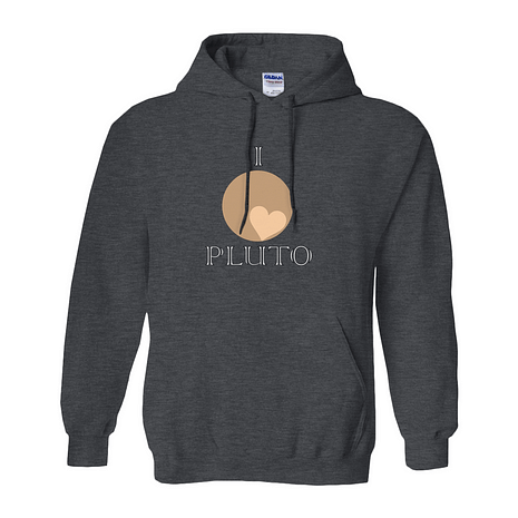 Heart Pluto pullover hoodie